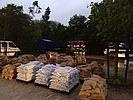 Bereitstellung der Sandsäcke im Filstal