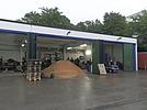Blick auf die Garagen in der Unterkunft in Aalen